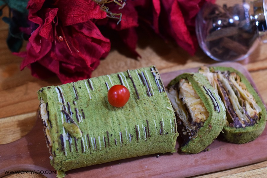 resep napoleon cake greentea