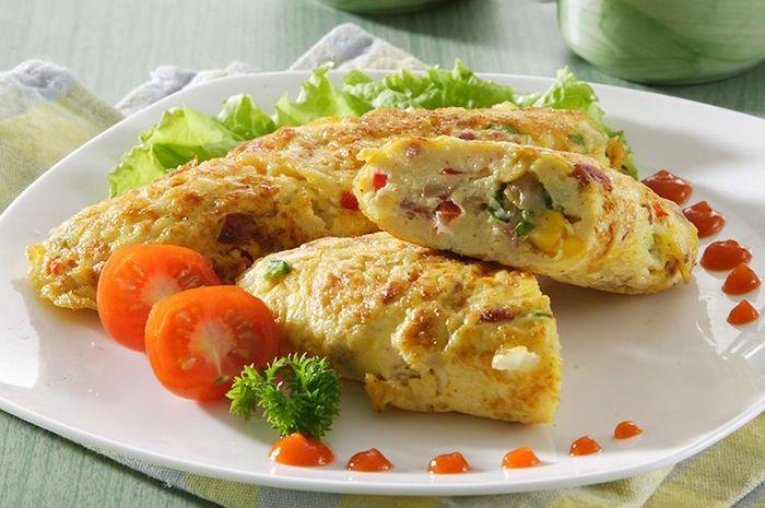 cara membuat omelet sayur