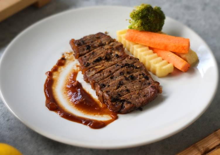 cara membuat beef steak