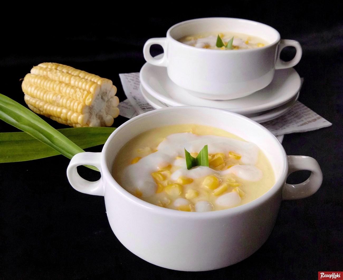 cara membuat bubur jagung keju