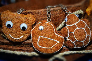 kerajinan dari bahan sabut kelapa