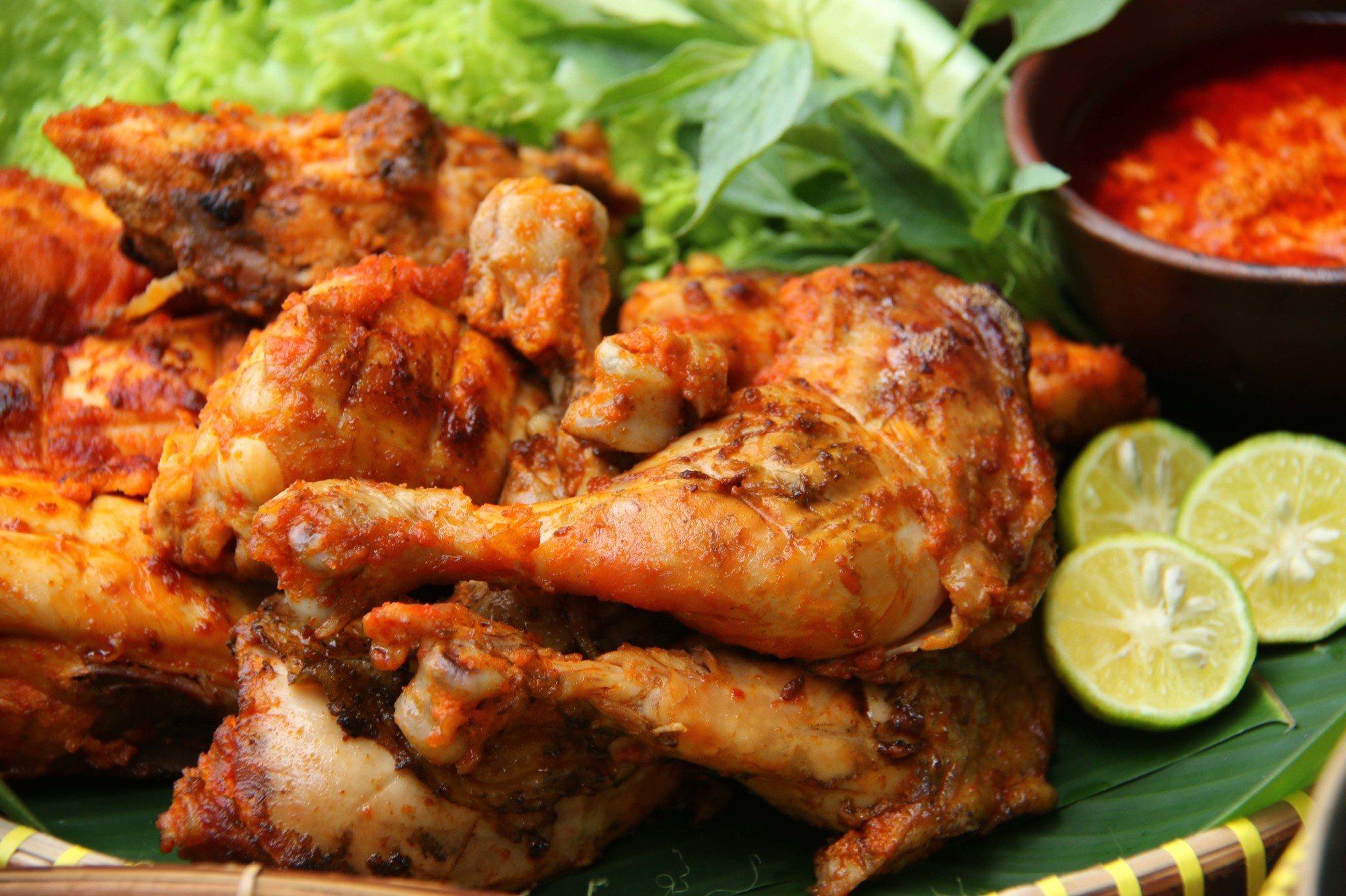 cara membuat ayam panggang bumbu rujak